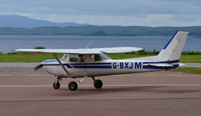 Cessna at Oban Airport