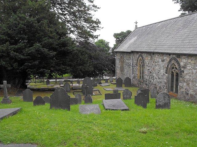 Churchyard at St Pedrog's