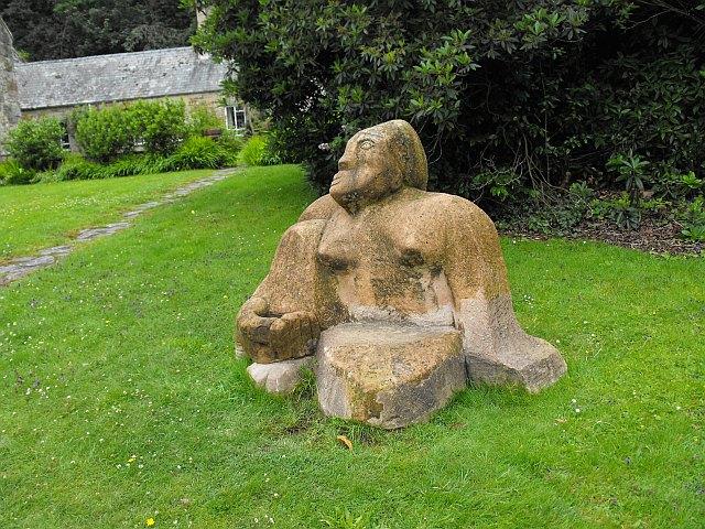Sculpture at Oriel Plas Glyn y Weddw