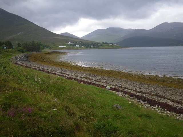 Shingle beach along Loch Ainort