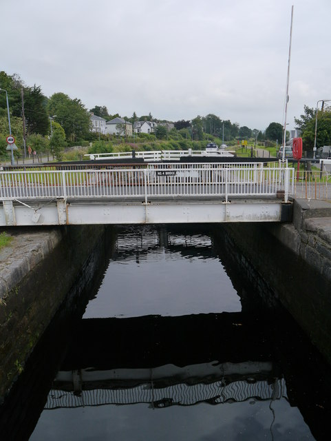 The Crinan Canal: Lock No 4 And Bridge