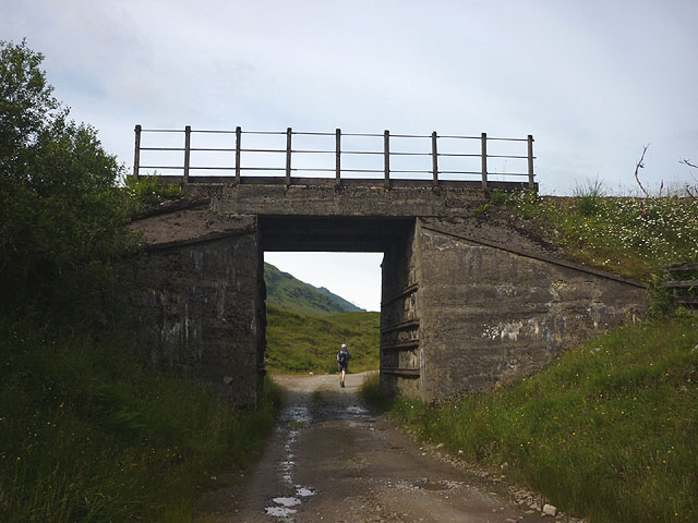 Railway bridge over the Cononish track