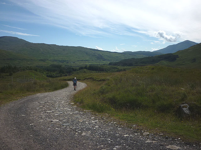 Heading up the Cononish track