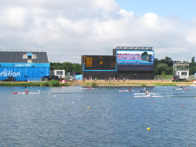 Eton Dorney Olympics sprint canoeing - men's single kayaks