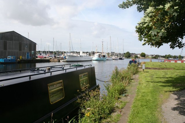 Glasson Dock from Lancaster Canal