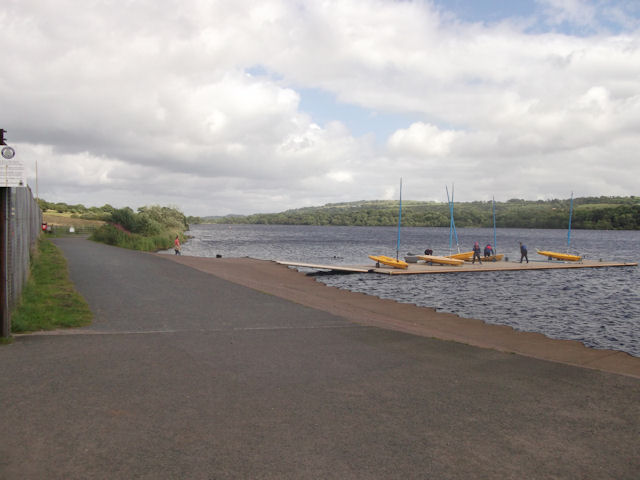 Jetty at Castle Semple lake