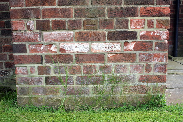 Benchmark on church on Thirsk Road