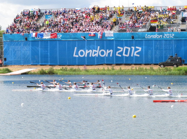 Women's K4, Olympics sprint canoeing, Eton Dorney