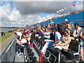 SU9377 : Grandstand, Olympics sprint canoeing at Eton Dorney by David Hawgood