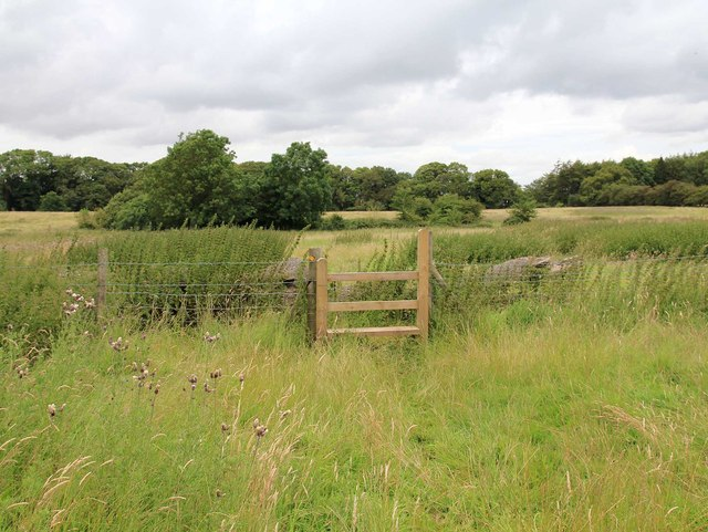 Stile on footpath to Oakham Farm