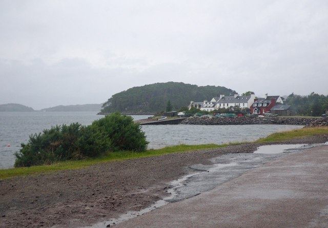 Across the water view of Shieldaig village