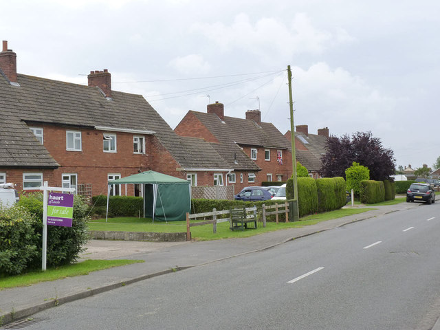 Council houses on Station Road