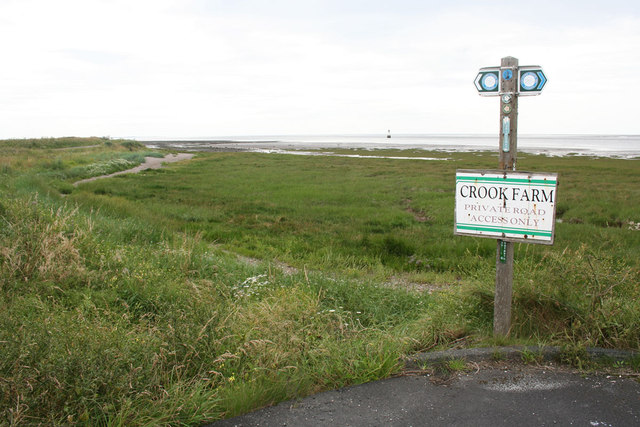 Lancashire Coastal Path near Crook Farm