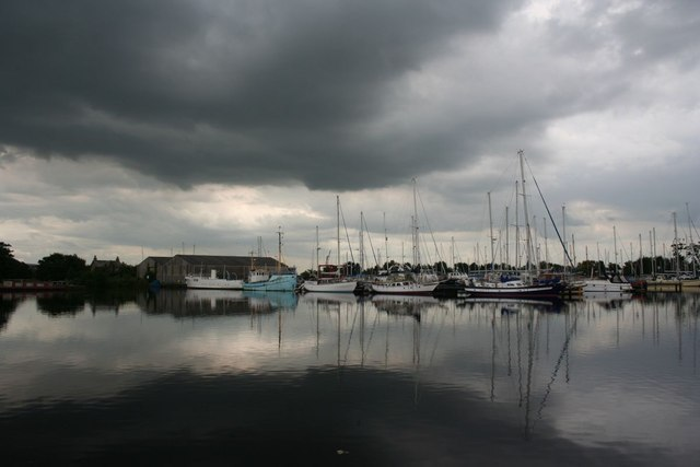 Stormclouds over Glasson Dock