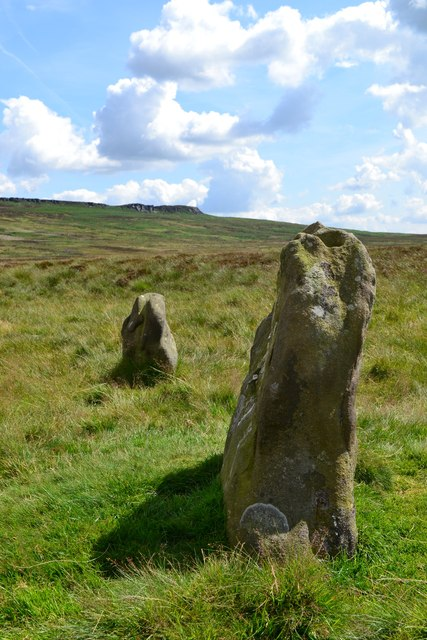 At the stone circle above Hordron Edge