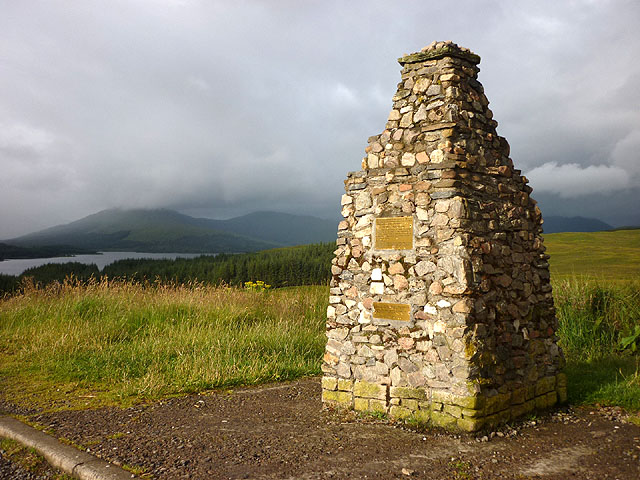 Commemorative cairn for mountaineers on the car park