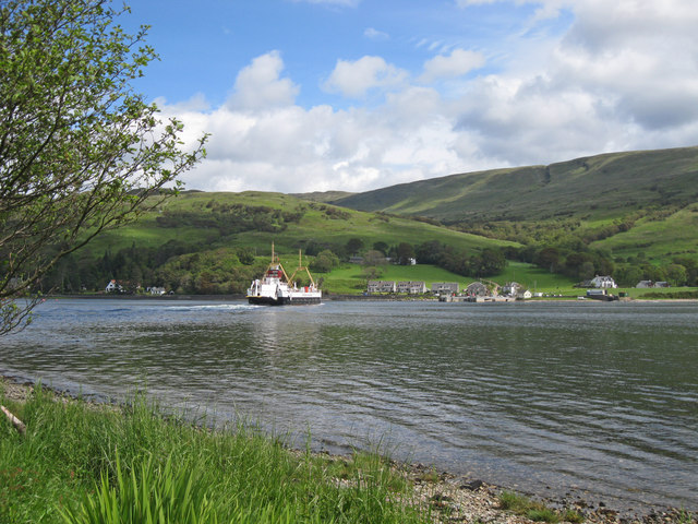 Vehicle ferry crossing the Kyles of Bute