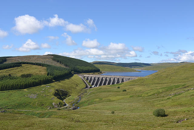 View over Nant-y-Moch dam