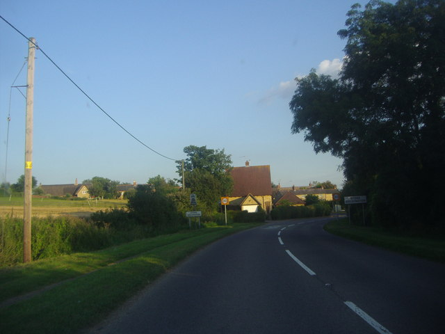 Entering Stoke Goldington