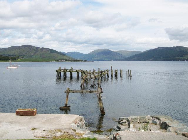 Old steamer pier, Port Bannatyne