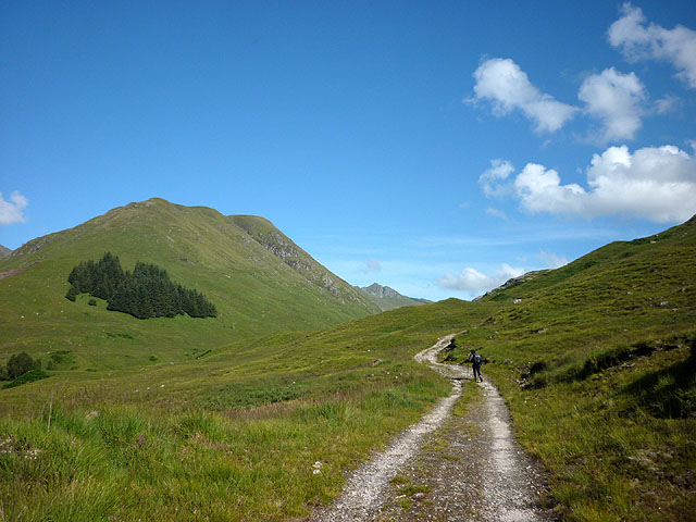 Starting along the track up An Caorann Mor