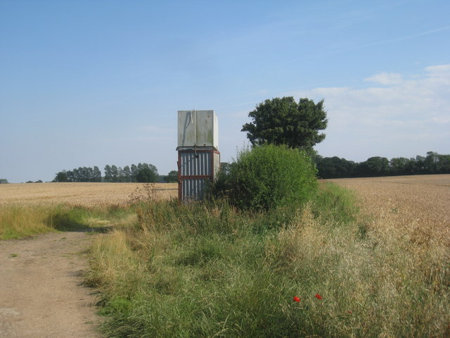 Water tank in the fields