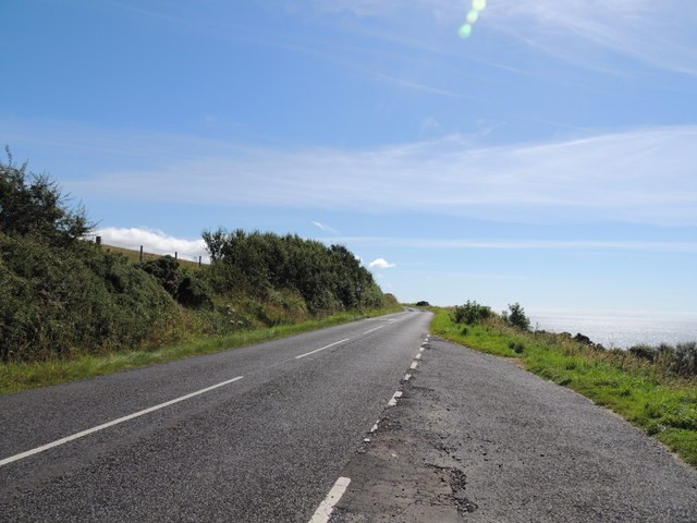 Road from Dunure to Maybole near Eggknock