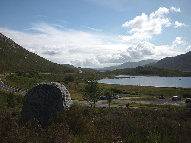 John Sandeman memorial stone, Lundie, Strath Cluanie