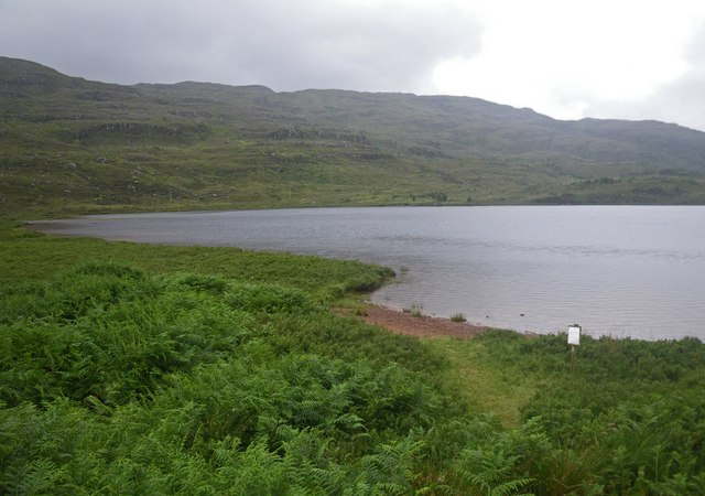Loch Dughaill framed with Bracken foreground