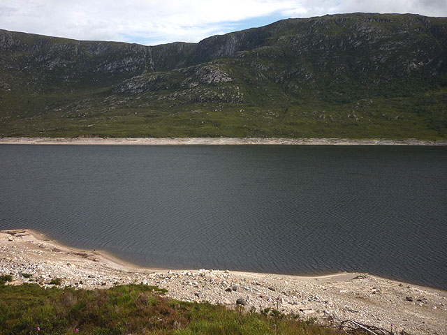 Loch Cluanie, low water levels