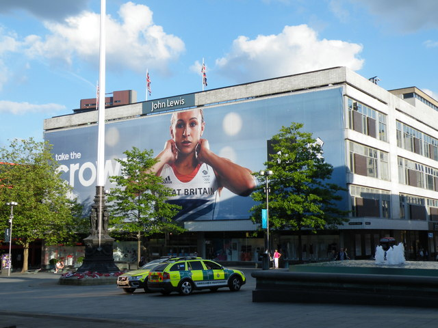 Jessica Ennis' Poster dominates Sheffield's Barker's Pool - 2