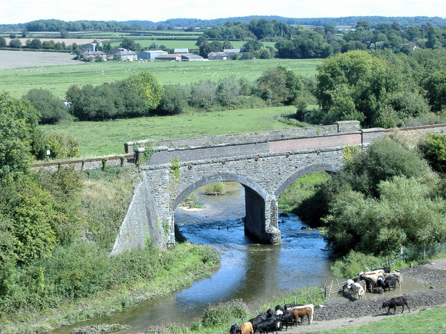Railway Bridge over the River Frome at Poundbury Hill Fort