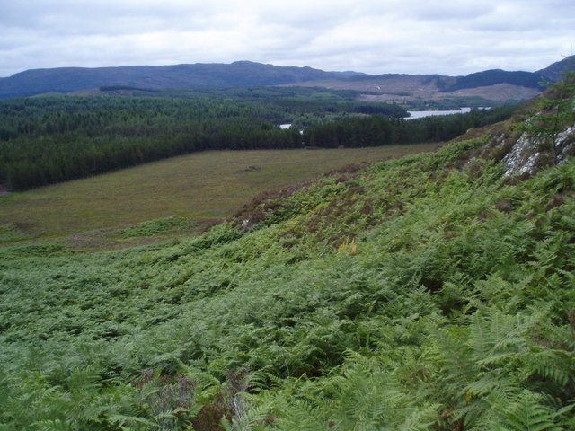 Moorland north of Loch Knockie