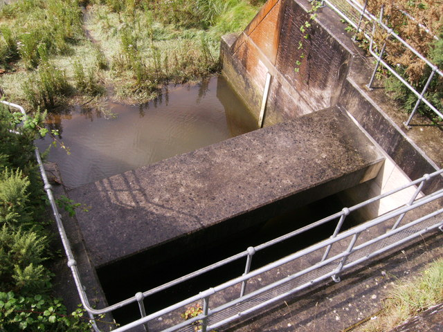 Out flow from Sewage works