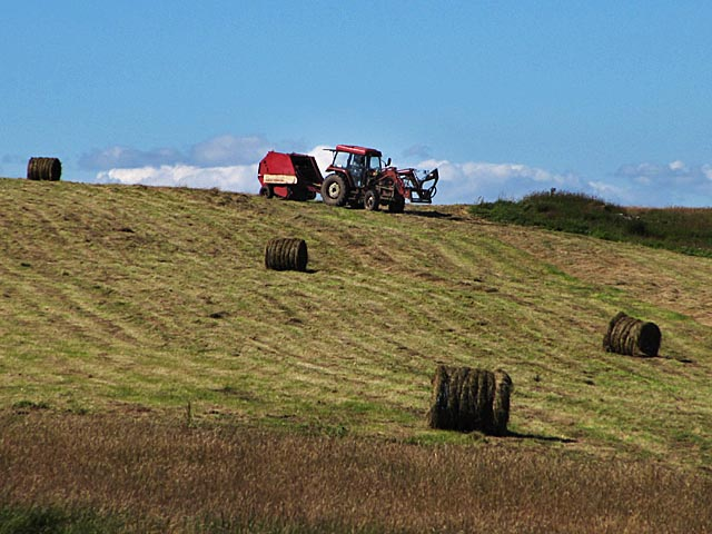 Grass baling at Auchrobert