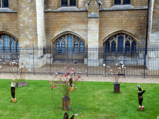 Ceramic Flower Garden outside the Palace of Westminster