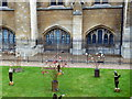 TQ3079 : Ceramic Flower Garden outside the Palace of Westminster by PAUL FARMER