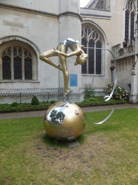 Bronze sculpture dedicated to gymnast Frankie Jones
