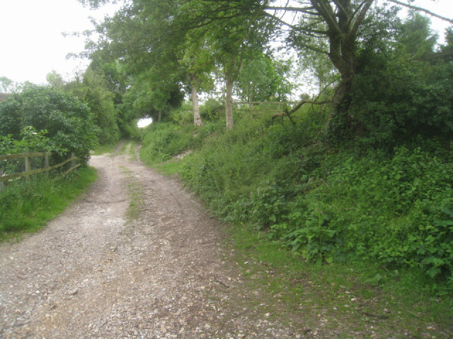 Start of the farm track/byway