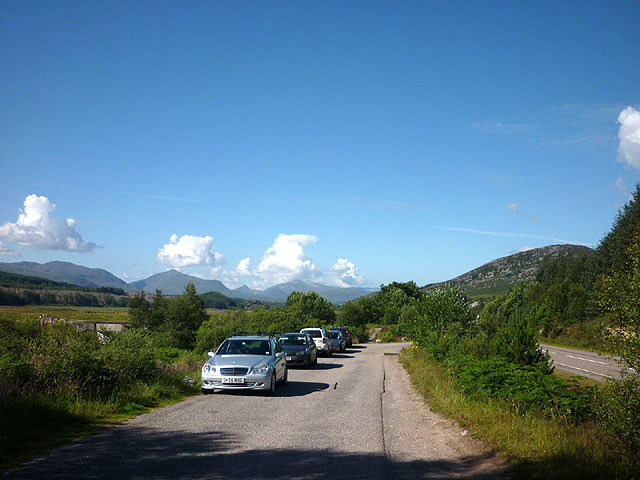 Car park beside the A86