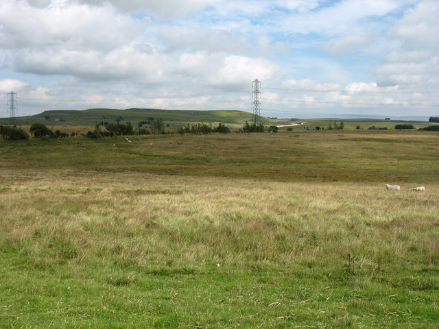 Fields near M6 Junction 39 at Shap