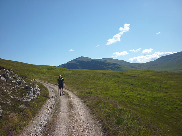 On the track to Lochan na h-Earba