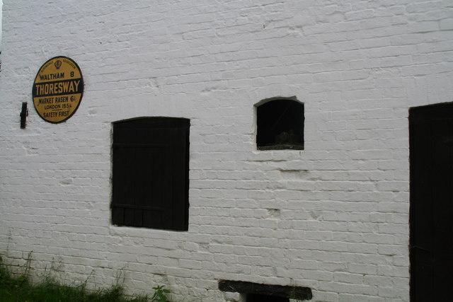 Look inside: it's the Thoresway water wheel!