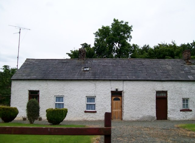 Traditional mill workers' cottages at Laragh