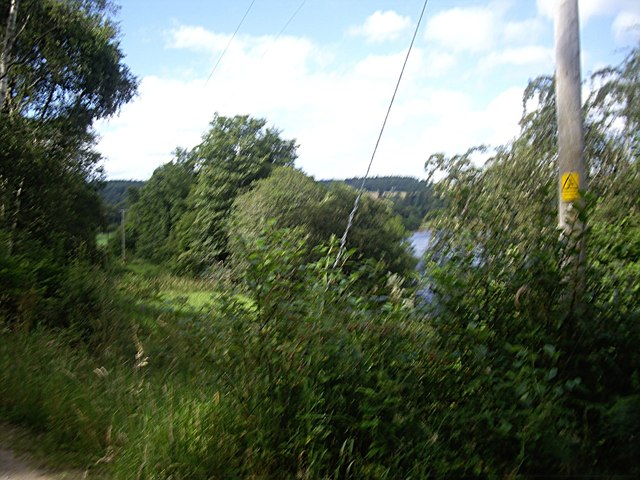 Power lines by the River Dee