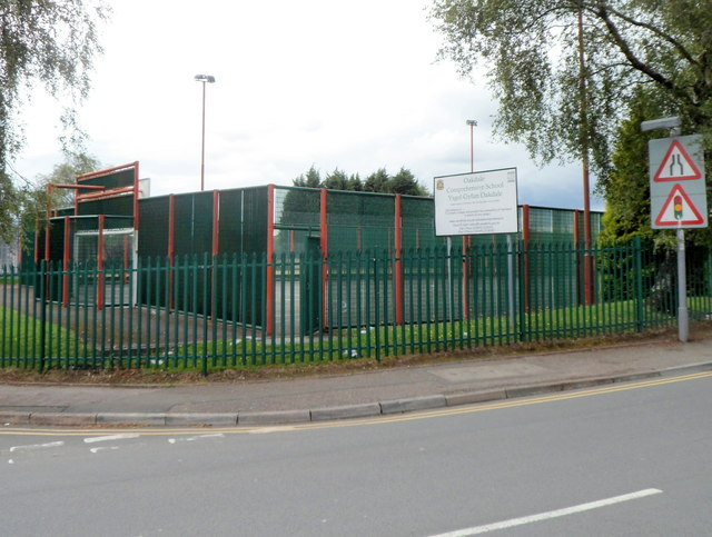 SE corner of Oakdale Comprehensive School