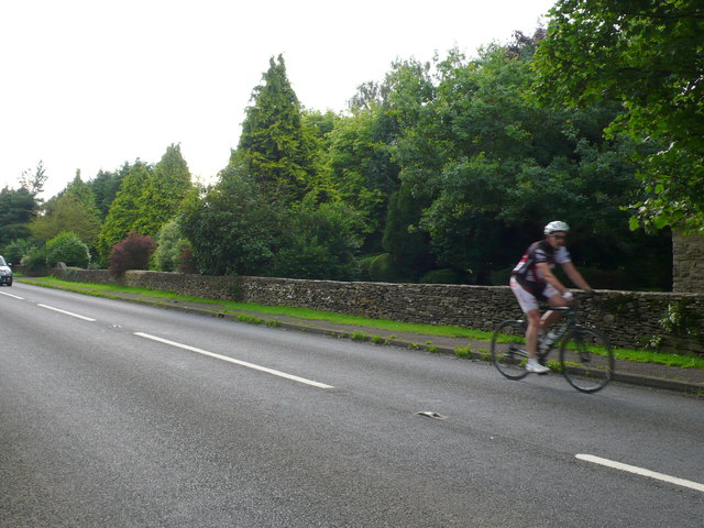 Cyclist on the A433