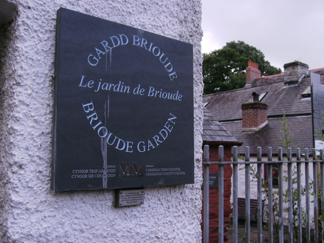 Plaque for the gardens