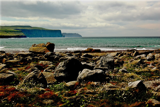 Doolin - R479 - Harbour - Distant View of Cliffs of Moher