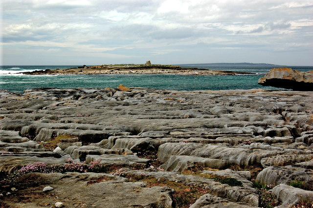 Doolin - R479 - Harbour - Rocky Coastline & Small Nearby Offshore Island